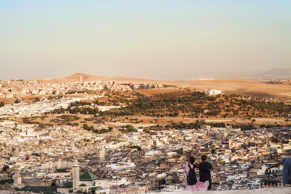Vista panoramica città di fez