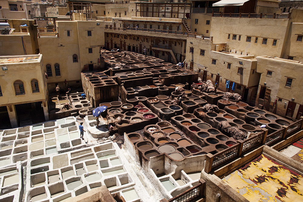 Le concerie mediavali di Fez